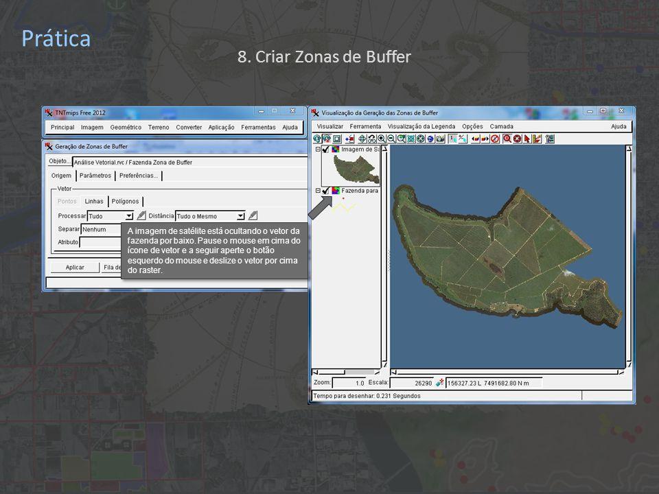 Prática A imagem de satélite está ocultando o vetor da fazenda por baixo.