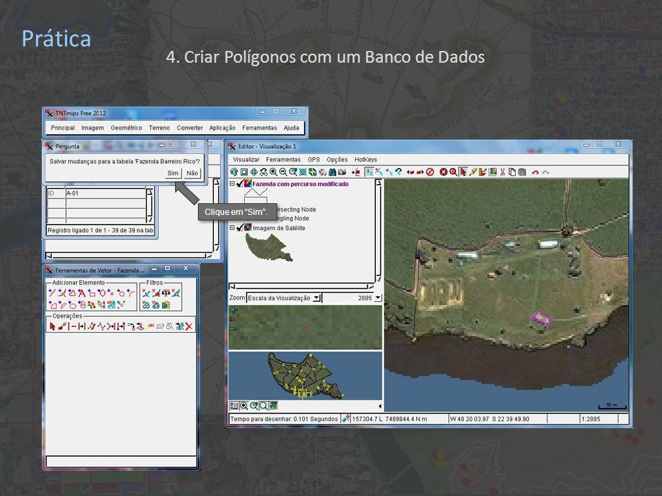 Prática 4. Criar Polígonos com um Banco de Dados Clique em Sim .