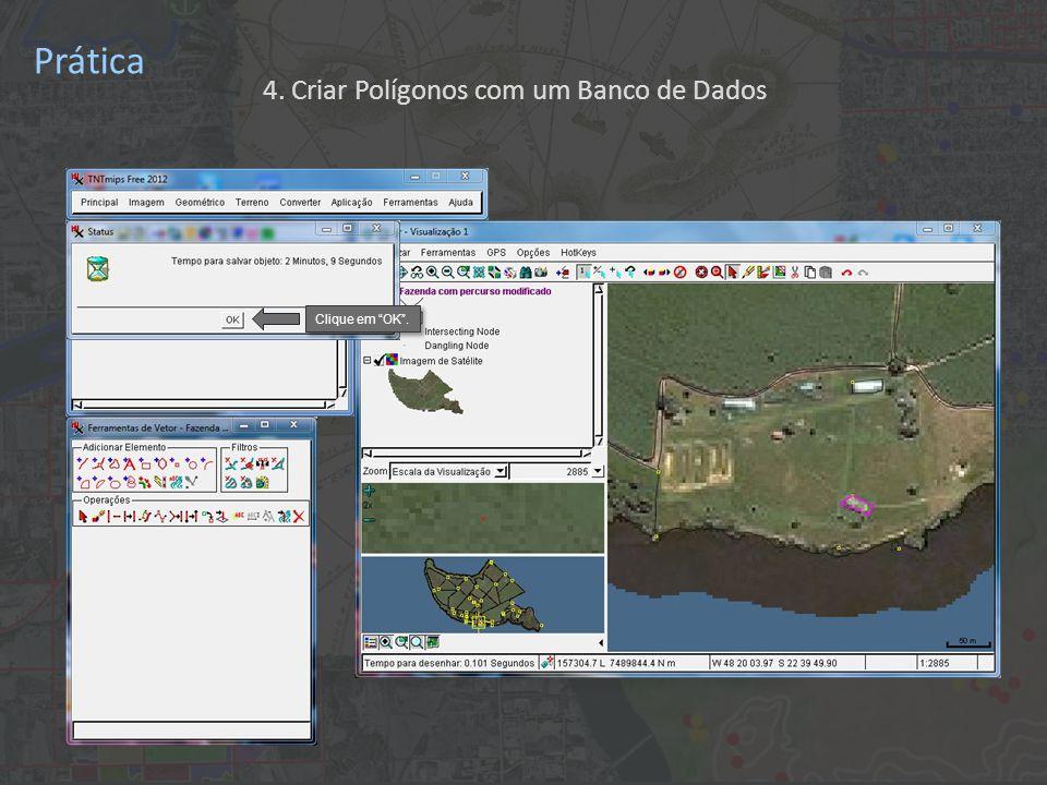 Prática Clique em OK . 4. Criar Polígonos com um Banco de Dados
