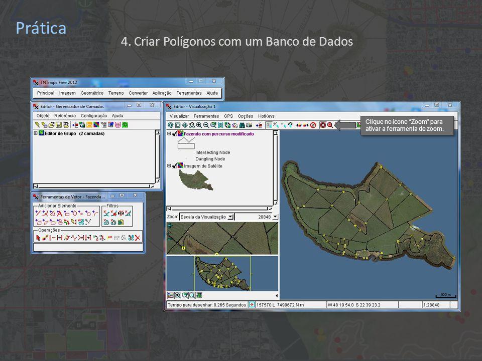 Prática 4.Criar Polígonos com um Banco de Dados Clique no ícone Salvar Como... .