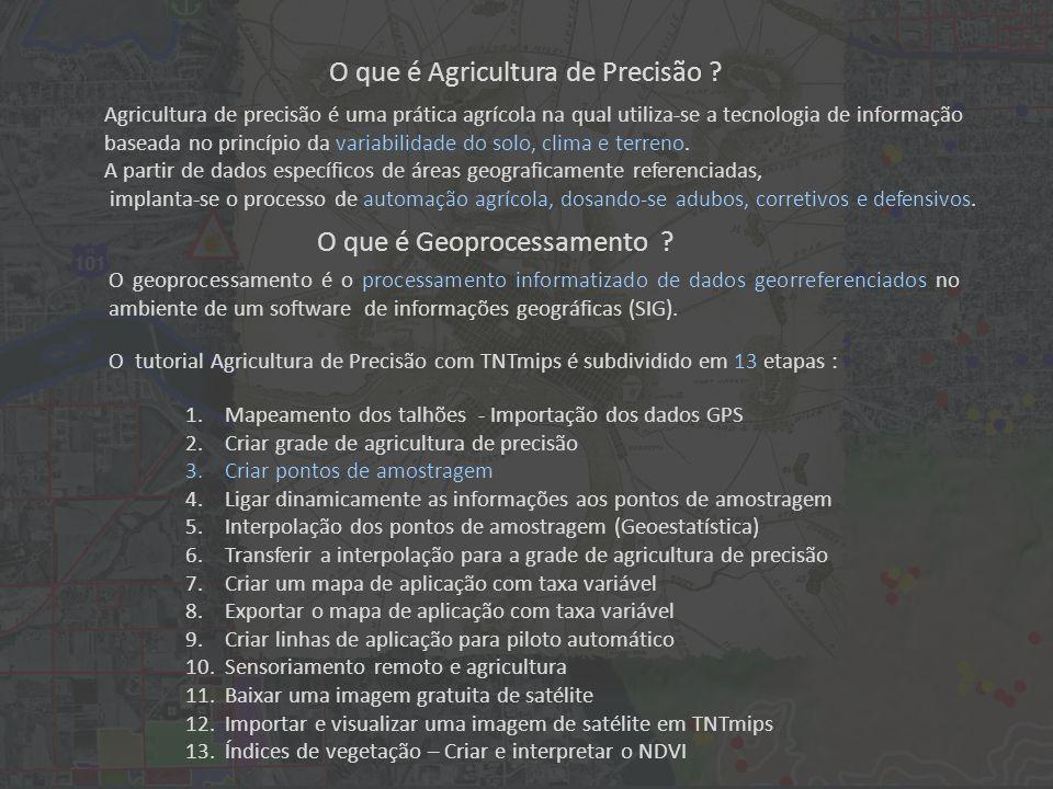 Prática A seguir, digite Pontos de Amostragem Ocasional e clique em Ok 3.