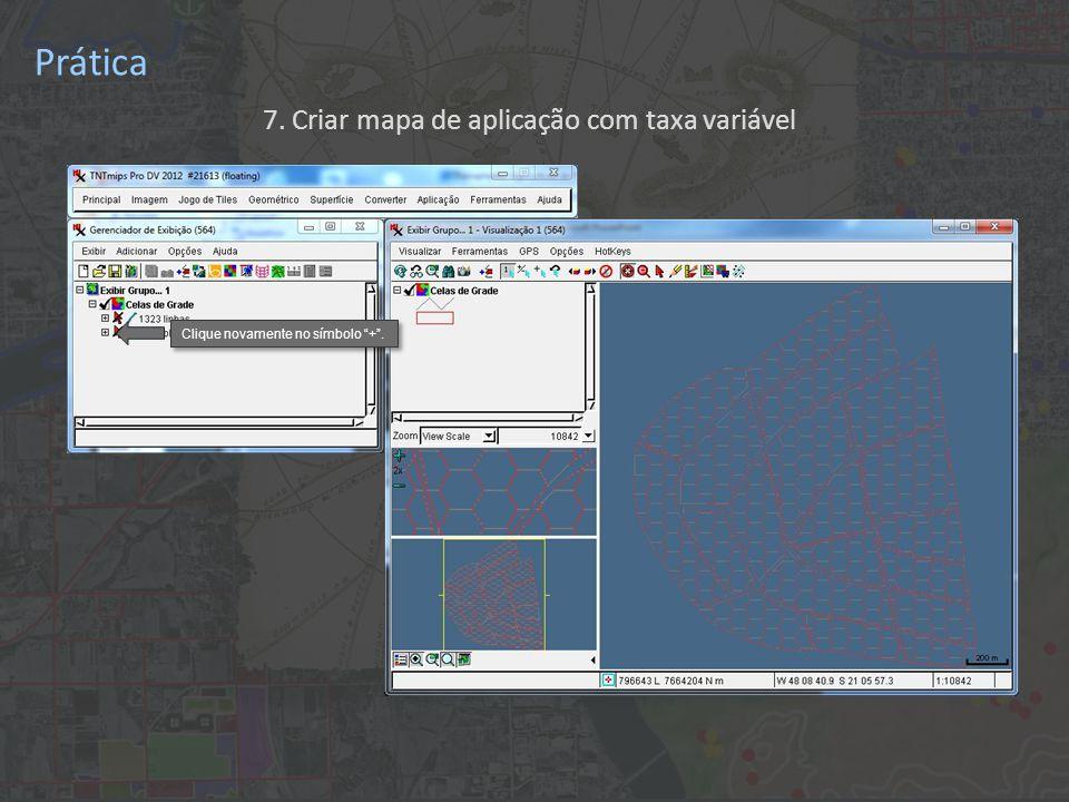 Prática 7. Criar mapa de aplicação com taxa variável Clique na caixa da tabela KrigagemPotassio .