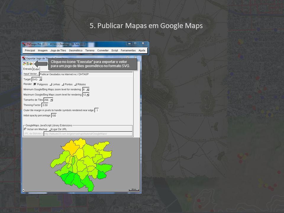 Clique no ícone Executar para exportar o vetor para um jogo de tiles geométrico no formato SVG.
