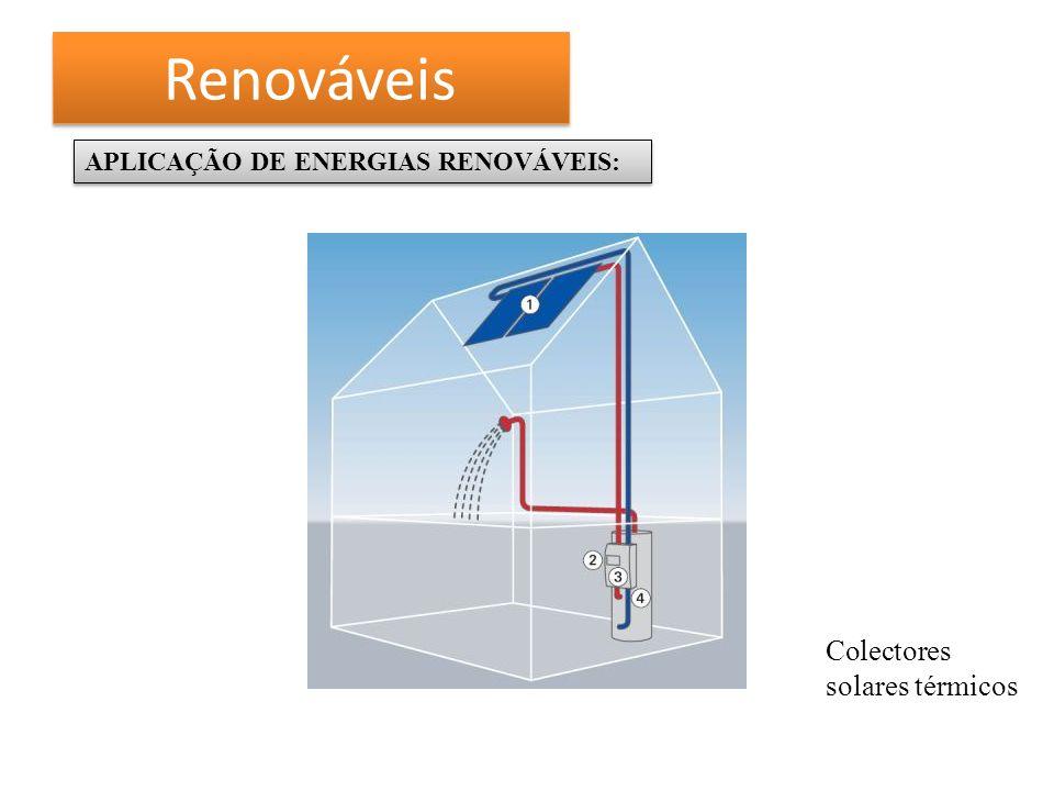 Renováveis APLICAÇÃO DE ENERGIAS RENOVÁVEIS: Colectores solares térmicos