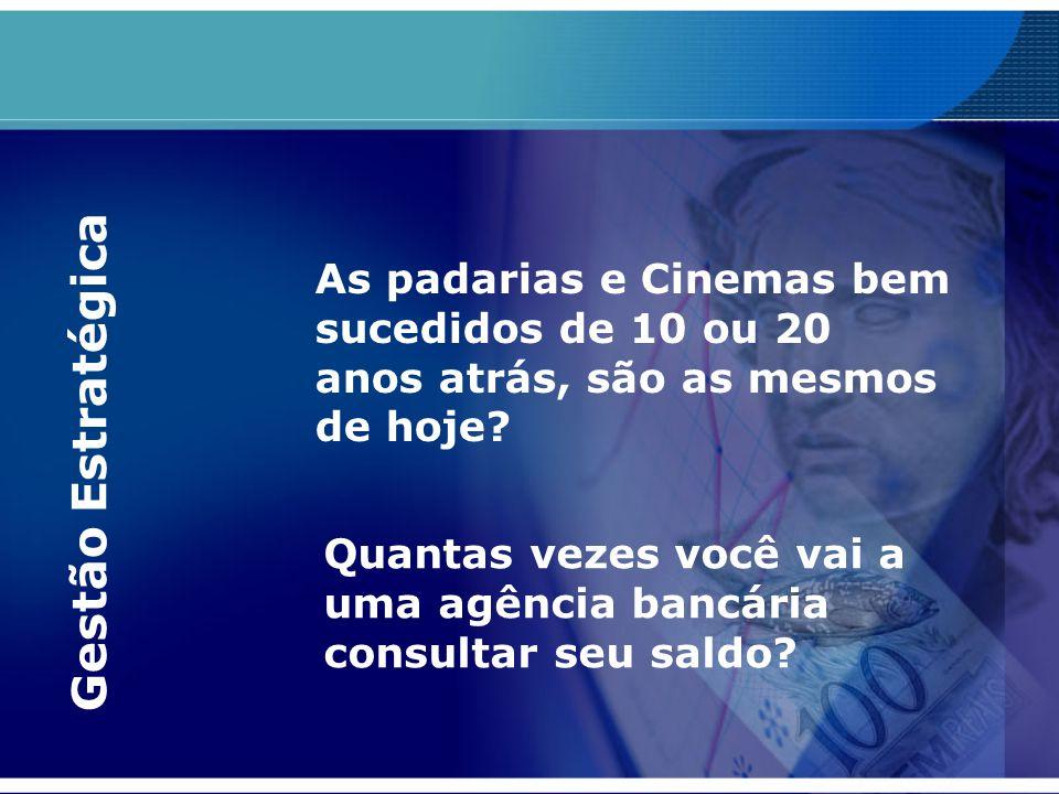 As padarias e Cinemas bem sucedidos de 10 ou 20 anos atrás, são as mesmos de hoje? Quantas vezes você vai a uma agência bancária consultar seu saldo?