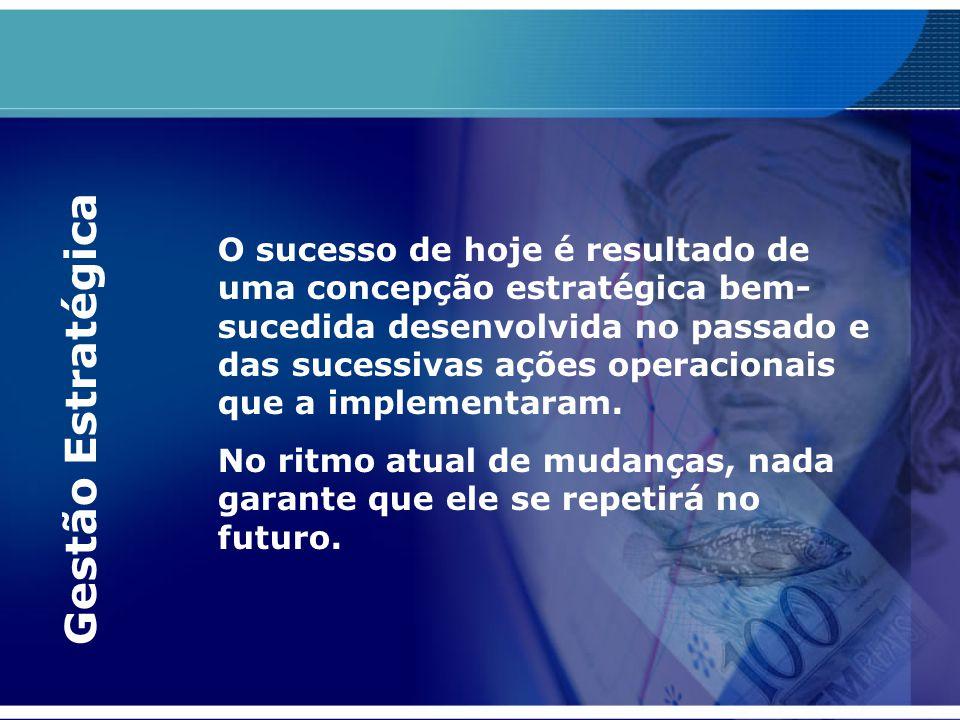 O sucesso de hoje é resultado de uma concepção estratégica bem- sucedida desenvolvida no passado e das sucessivas ações operacionais que a implementar