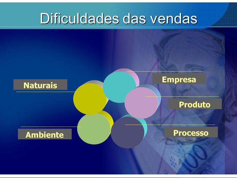 Dificuldades das vendas Naturais Empresa Produto Processo Ambiente