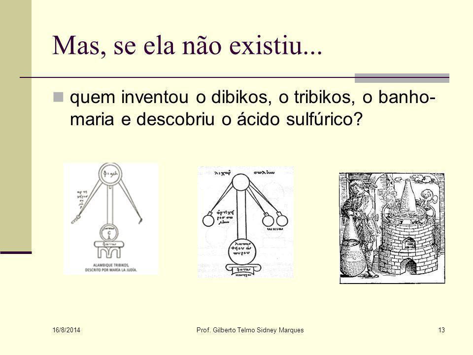 16/8/2014 Prof.Gilberto Telmo Sidney Marques12 Existiu ou não existiu Maria a Judia.