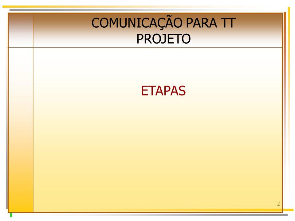 2 COMUNICAÇÃO PARA TT PROJETO ETAPAS