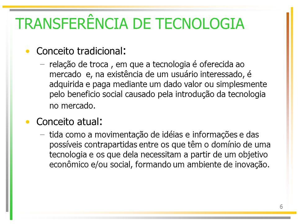 7 PESQUISA & TT & COMUNICAÇÃO Não basta gerar tecnologia.