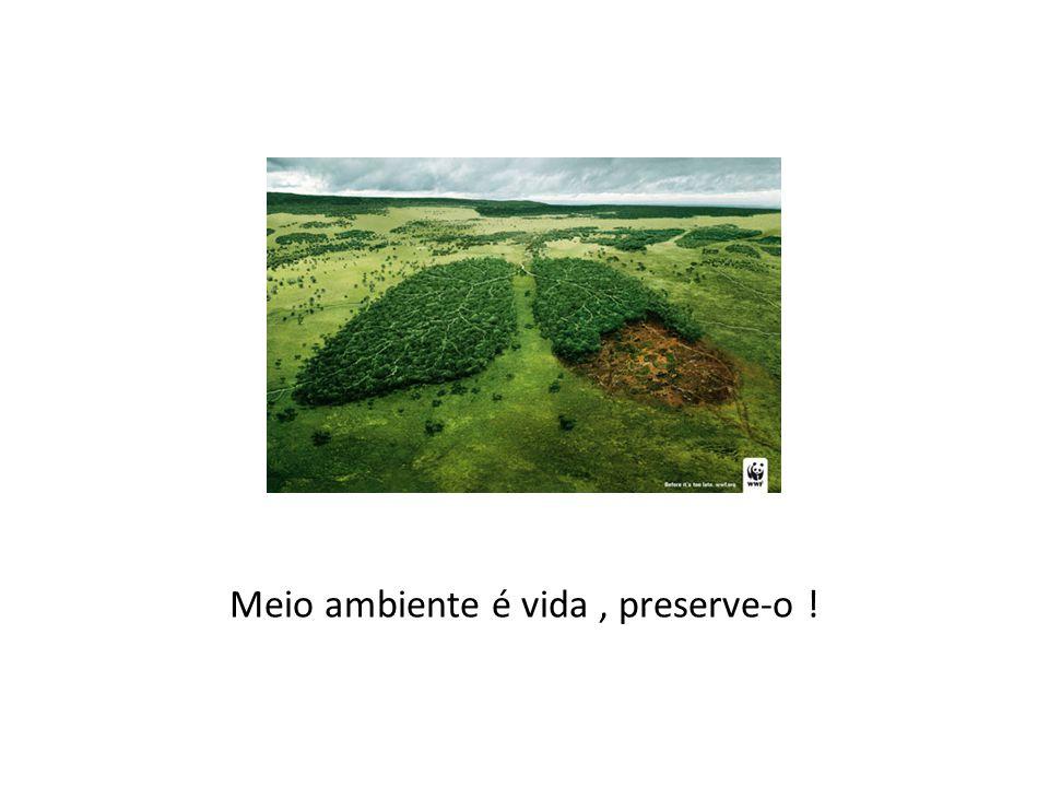 Meio ambiente é vida, preserve-o !