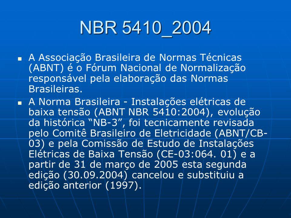 A Associação Brasileira de Normas Técnicas (ABNT) é o Fórum Nacional de Normalização responsável pela elaboração das Normas Brasileiras. A Norma Brasi
