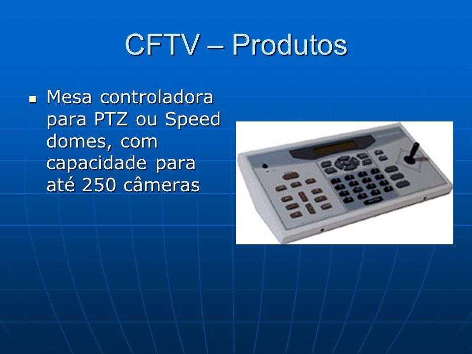 CFTV – Produtos Mesa controladora para PTZ ou Speed domes, com capacidade para até 250 câmeras Mesa controladora para PTZ ou Speed domes, com capacida