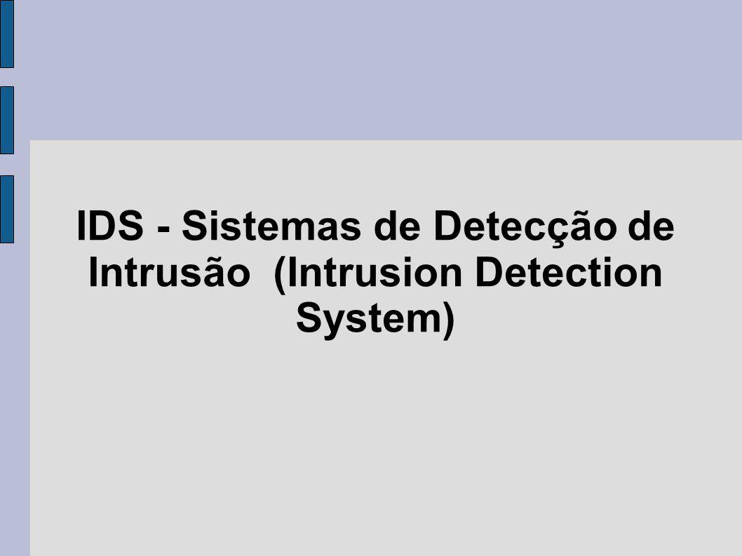 IDS - Sistemas de Detecção de Intrusão (Intrusion Detection System)