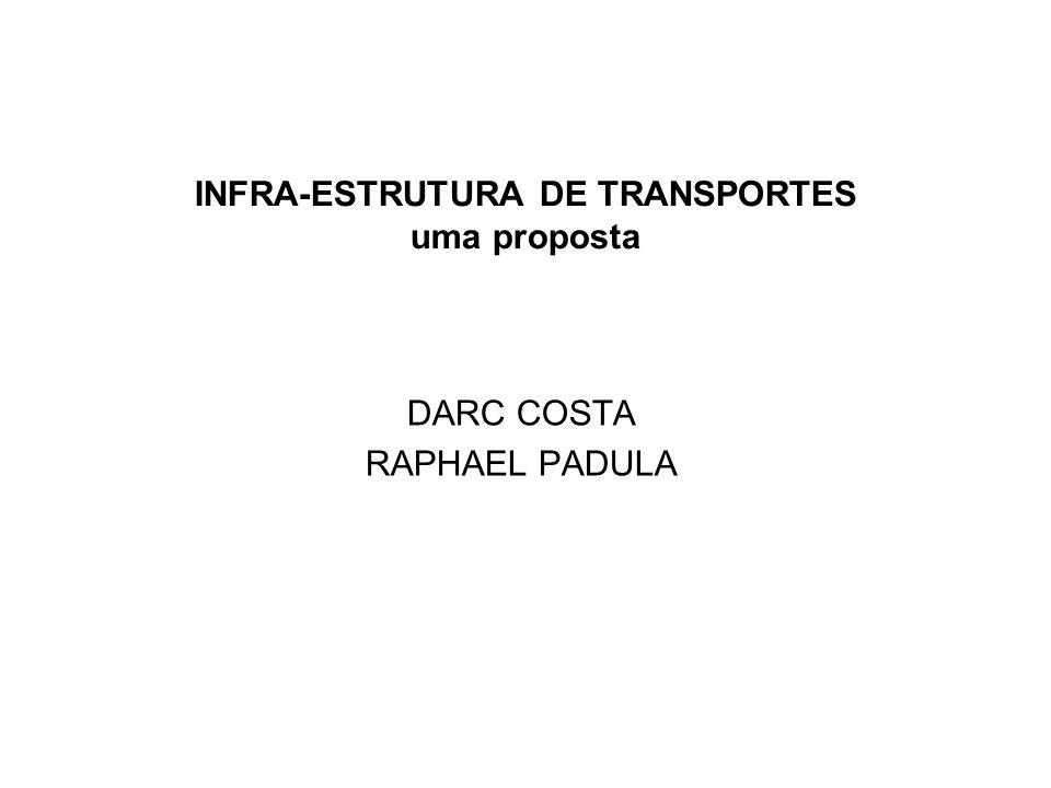 INFRA-ESTRUTURA DE TRANSPORTES uma proposta DARC COSTA RAPHAEL PADULA