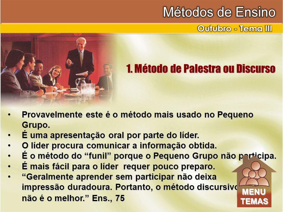 1.Método de Palestra ou Discurso 1.