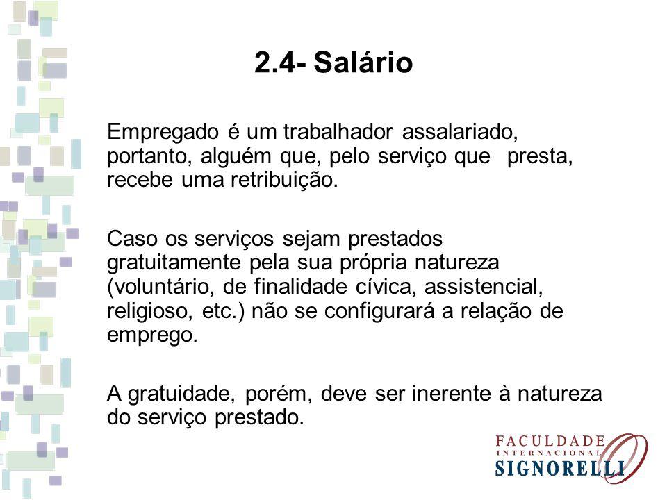 10 - Trabalhador Avulso A definição de trabalhador avulso é dada pelo inciso VI do art.