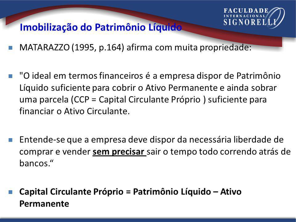 MATARAZZO (1995, p.164) afirma com muita propriedade: