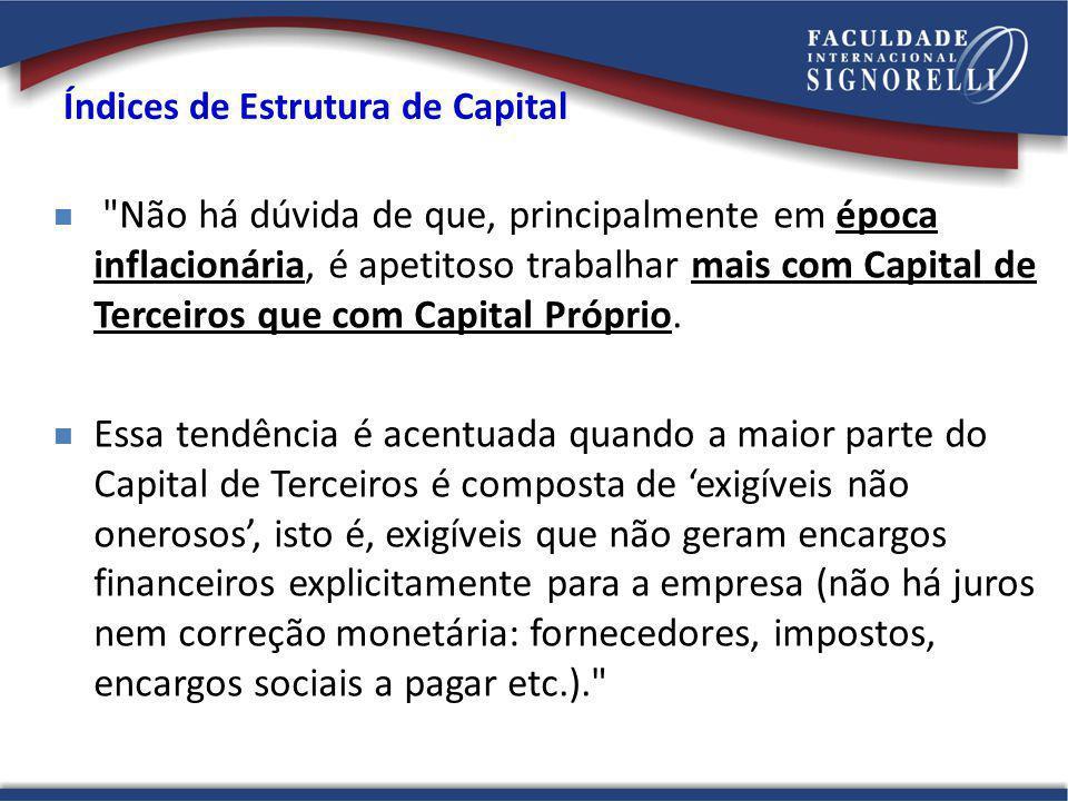 Índices de Estrutura de Capital