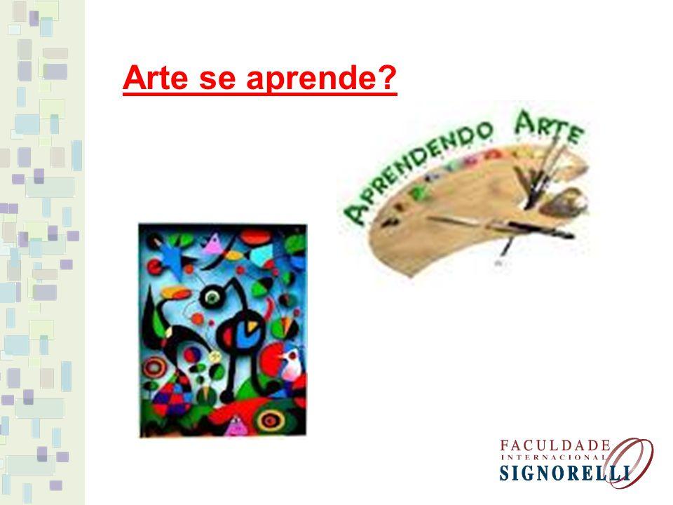 Arte se aprende?