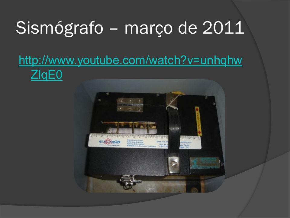 Sismógrafo – março de 2011 http://www.youtube.com/watch?v=unhqhw ZIqE0