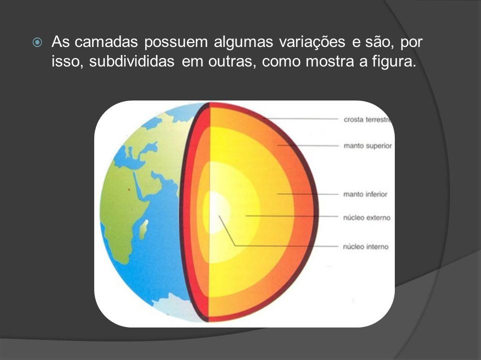 A crosta terrestre  A crosta é porção externa da Terra, a mais delgada de suas camadas e a que conhecemos melhor.