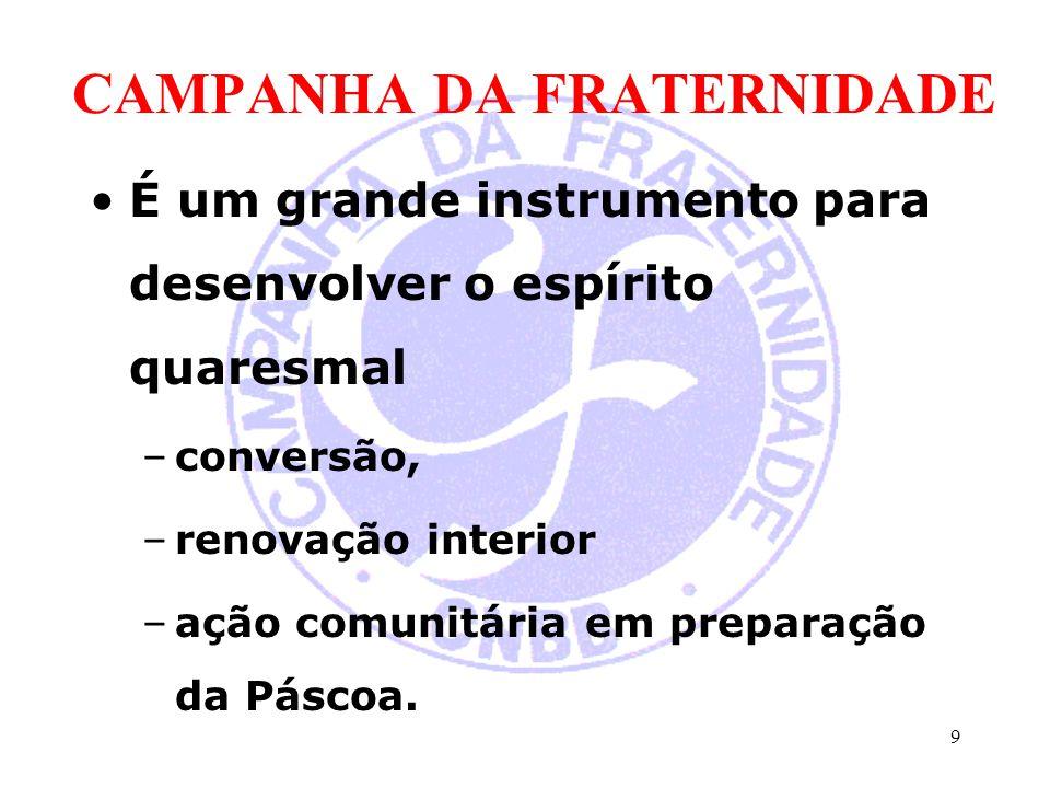 CAMPANHA PARA A EVANGELIZAÇÃO promover a Solidariedade Nacional entre Comunidades Cristãs –significa um caminho para a solidariedade de todos no sustento da missão da Igreja no Brasil.