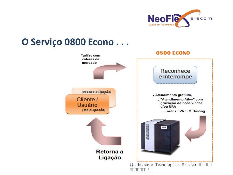 Qualidade e Tecnologia a Serviço de sua Empresa ! ! O Serviço 0800 Econo...