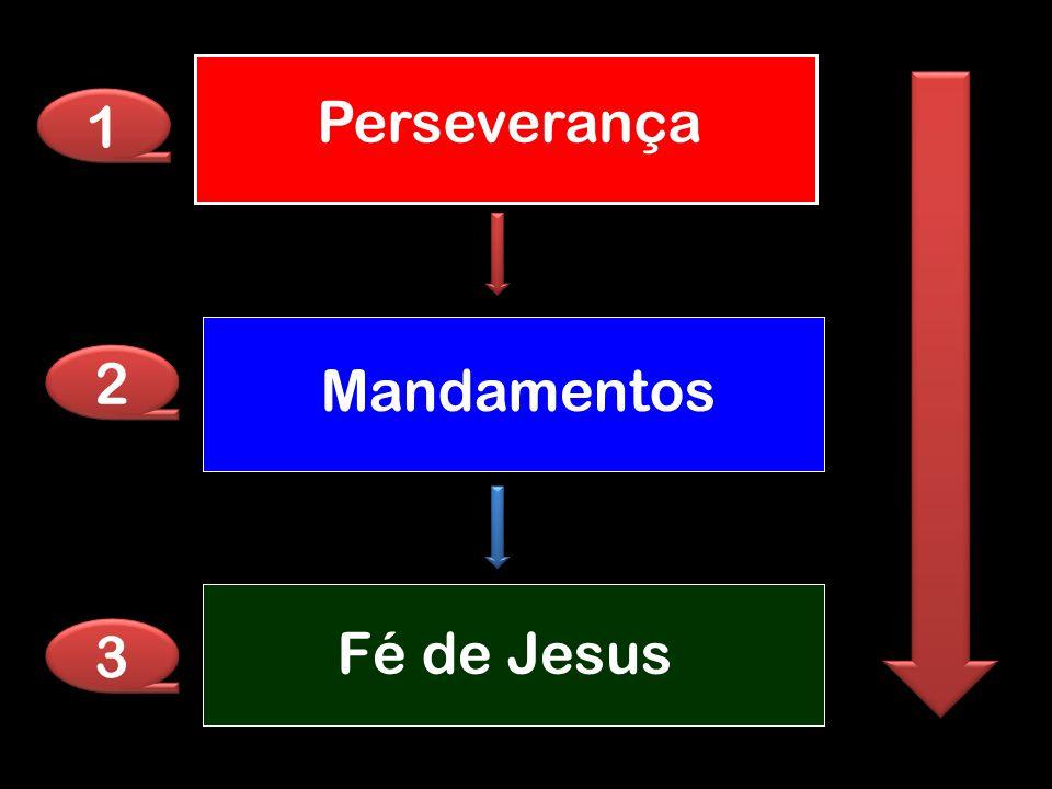 Mandamentos Fé de Jesus Perseverança 1 1 2 2 3 3
