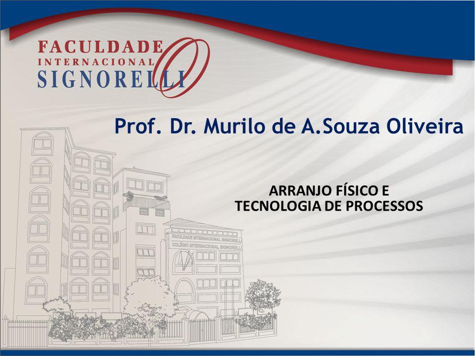 Prof. Dr. Murilo de A.Souza Oliveira ARRANJO FÍSICO E TECNOLOGIA DE PROCESSOS