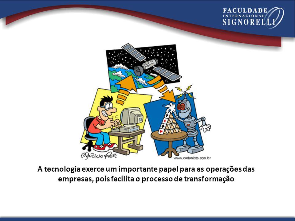 A tecnologia exerce um importante papel para as operações das empresas, pois facilita o processo de transformação