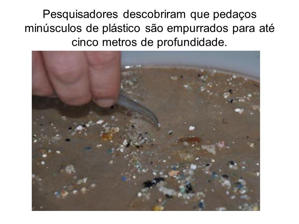 Pesquisadores descobriram que pedaços minúsculos de plástico são empurrados para até cinco metros de profundidade.