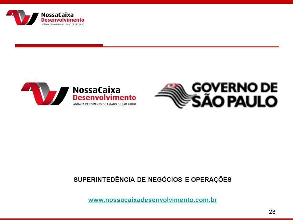 28 SUPERINTEDÊNCIA DE NEGÓCIOS E OPERAÇÕES www.nossacaixadesenvolvimento.com.br