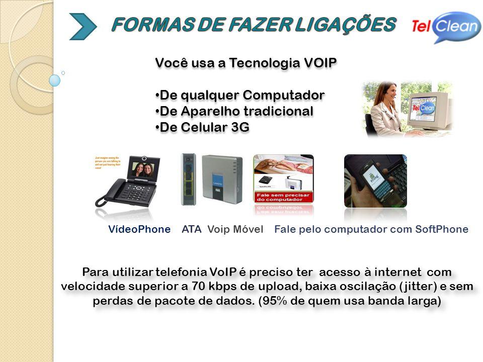 Você usa a Tecnologia VOIP De qualquer Computador De Aparelho tradicional De Celular 3G Você usa a Tecnologia VOIP De qualquer Computador De Aparelho