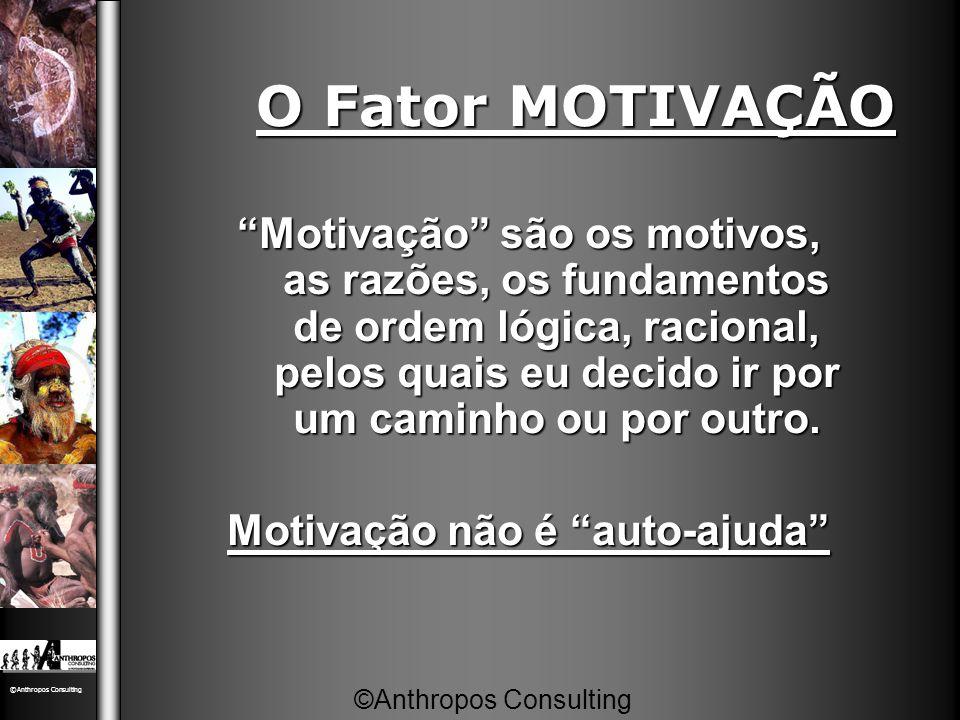 """O Fator MOTIVAÇÃO """"Motivação"""" são os motivos, as razões, os fundamentos de ordem lógica, racional, pelos quais eu decido ir por um caminho ou por outr"""