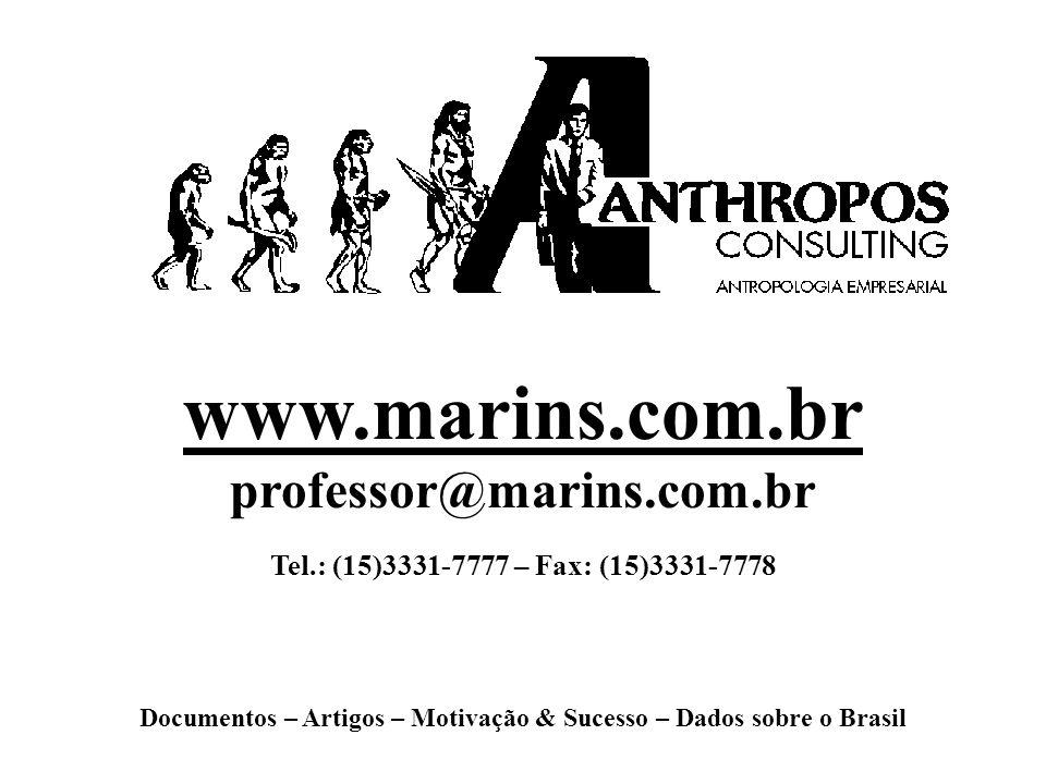 www.marins.com.br professor@marins.com.br Tel.: (15)3331-7777 – Fax: (15)3331-7778 Documentos – Artigos – Motivação & Sucesso – Dados sobre o Brasil