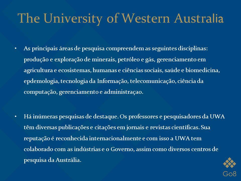 As principais áreas de pesquisa compreendem as seguintes disciplinas: produção e exploração de minerais, petróleo e gás, gerenciamento em agricultura