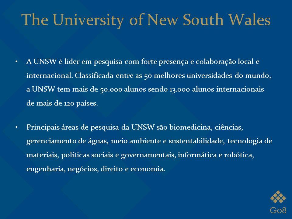 A UNSW é líder em pesquisa com forte presença e colaboração local e internacional. Classificada entre as 50 melhores universidades do mundo, a UNSW te