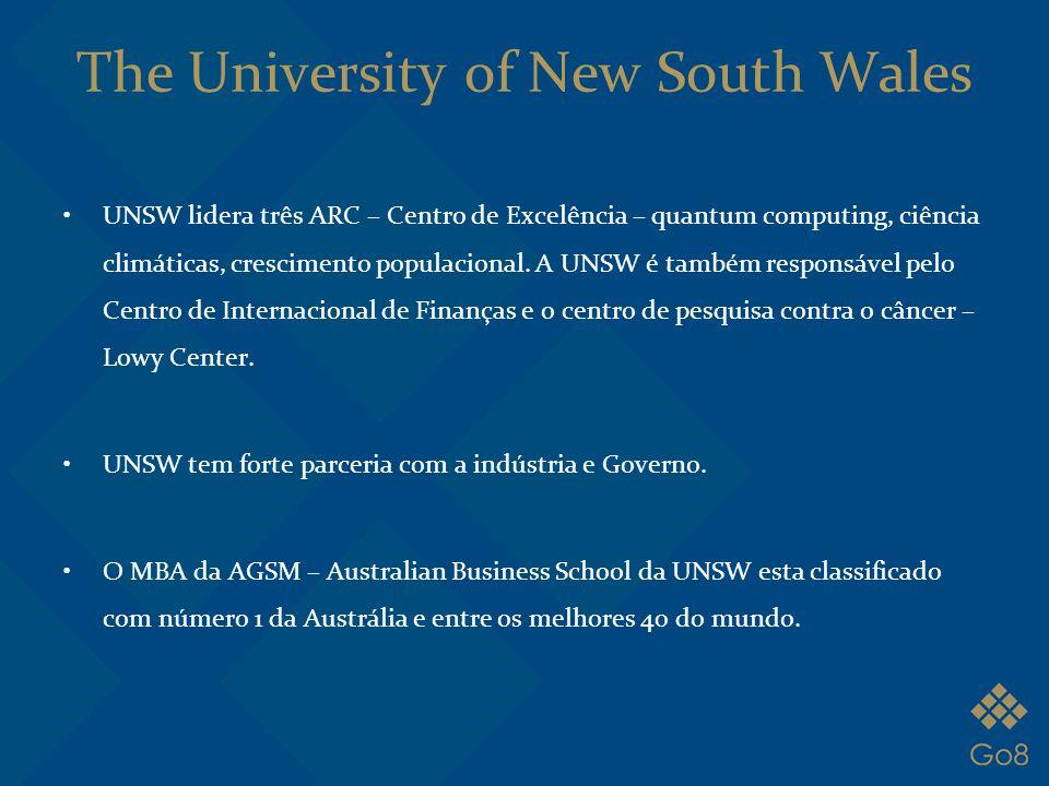The University of New South Wales UNSW lidera três ARC – Centro de Excelência – quantum computing, ciência climáticas, crescimento populacional. A UNS