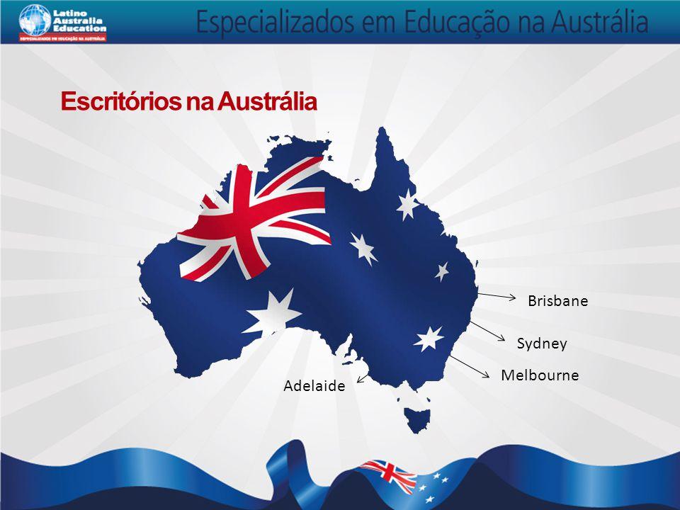Escritórios na Austrália Brisbane Sydney Melbourne Adelaide