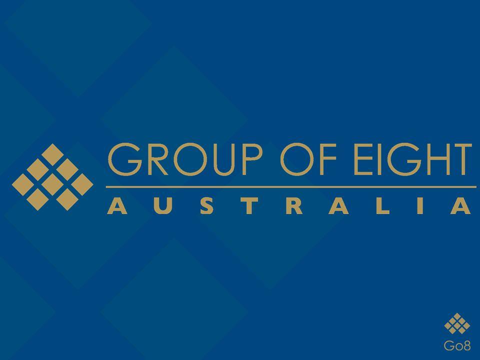 Group of 8 ~ Go8 O Group of 8 é formado por Vice- Reitores e Presidentes das principais Universidades líderes em Pesquisa da Austrália.