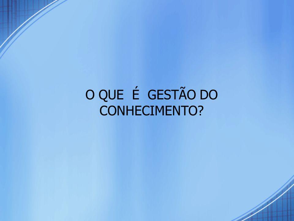 Mapeamento Conceitual da Gestão do Conhecimento FONTE: Adaptado de SOUZA & ALVARENGA NETO (2003).