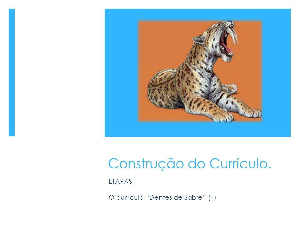 """Construção do Currículo. ETAPAS O currículo """"Dentes de Sabre"""" (1)"""