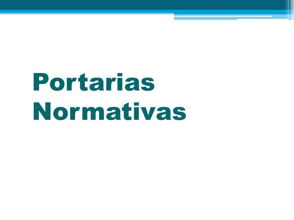 Portarias Normativas