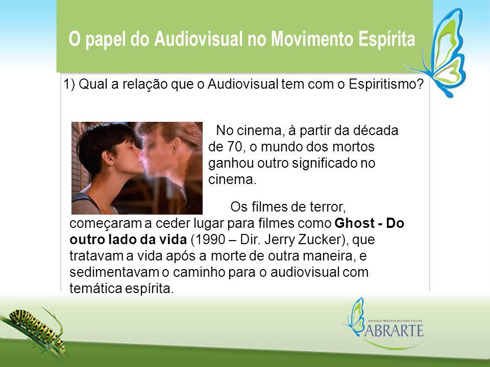 No cinema, à partir da década de 70, o mundo dos mortos ganhou outro significado no cinema. 1) Qual a relação que o Audiovisual tem com o Espiritismo?