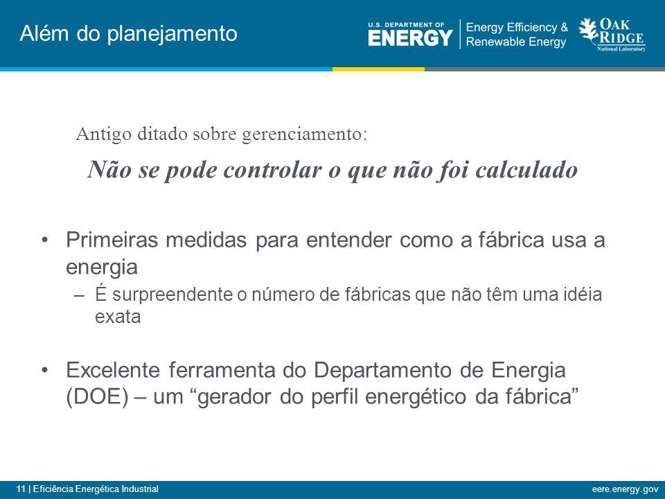 11 | Eficiência Energética Industrialeere.energy.gov Primeiras medidas para entender como a fábrica usa a energia –É surpreendente o número de fábrica