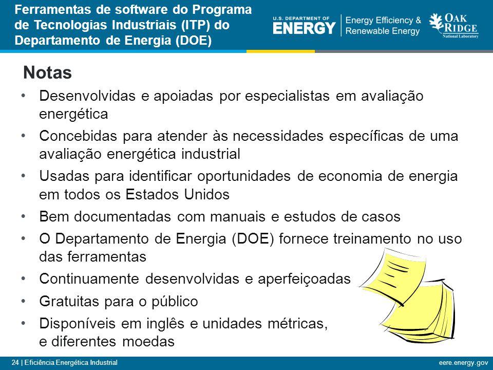 24 | Eficiência Energética Industrialeere.energy.gov Desenvolvidas e apoiadas por especialistas em avaliação energética Concebidas para atender às nec