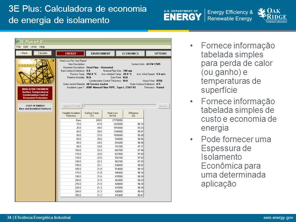 34 | Eficiência Energética Industrialeere.energy.gov Fornece informação tabelada simples para perda de calor (ou ganho) e temperaturas de superfície F