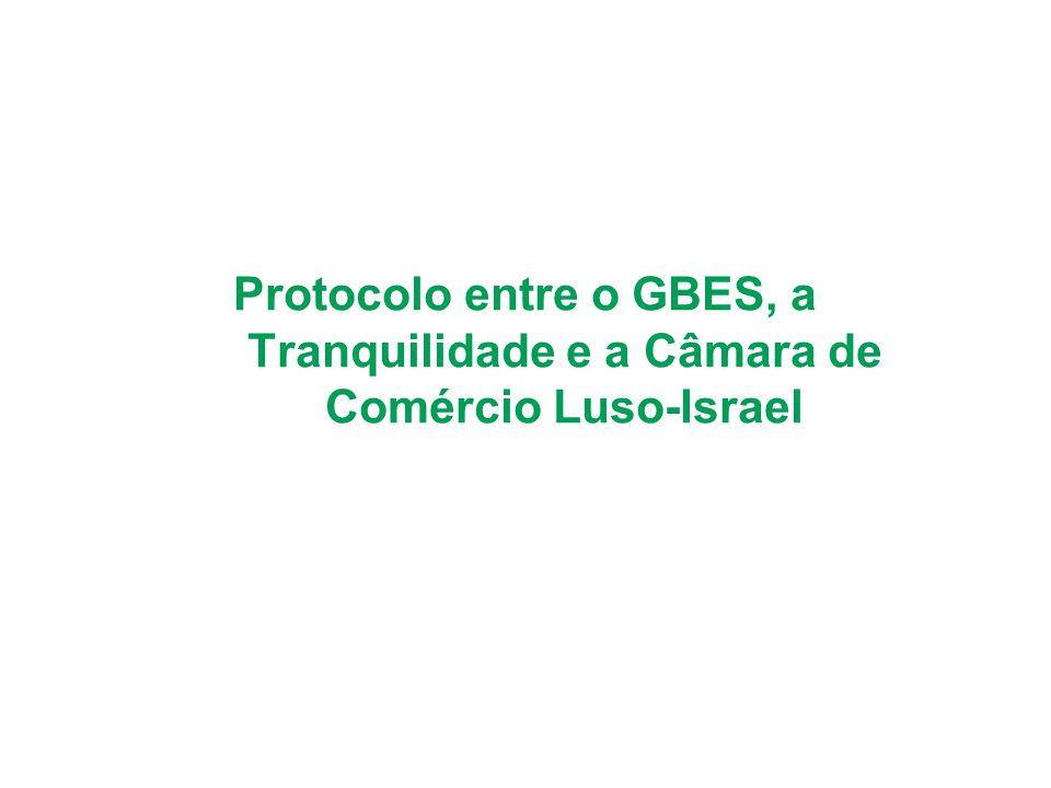 Protocolo entre o GBES, a Tranquilidade e a Câmara de Comércio Luso-Israel