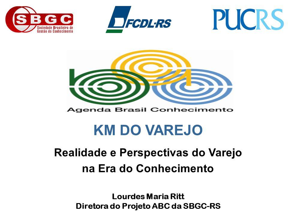 Realidade e Perspectivas do Varejo na Era do Conhecimento Lourdes Maria Ritt Diretora do Projeto ABC da SBGC-RS KM DO VAREJO